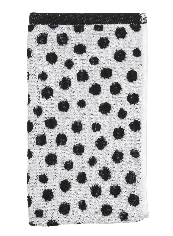 Image of Gastendoek - 30 X 55 Cm - Zware Kwaliteit - Wit Zwart Stip (zwart/wit)