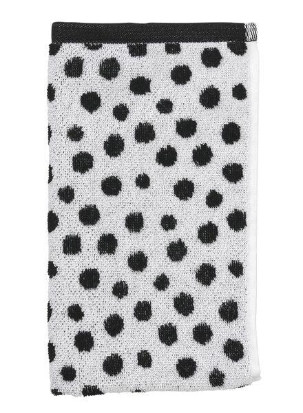 gastendoek - 30 x 55 cm - zware kwaliteit - wit zwart stip - 5210067 - HEMA