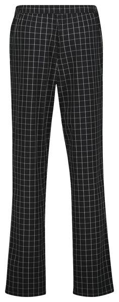 heren pyjamabroek geruit zwart zwart - 1000025092 - HEMA