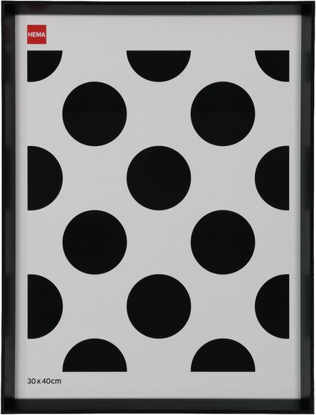 fotolijst hout 30x40 - facetrand zwart - 13621021 - HEMA