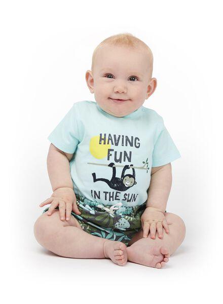 newborn baby pofbroek blauw blauw - 1000013445 - HEMA