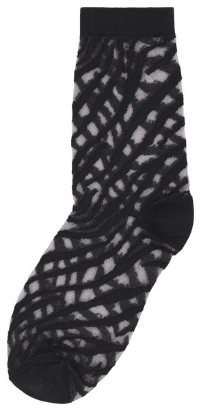 damessokken zebra zwart zwart - 1000025211 - HEMA