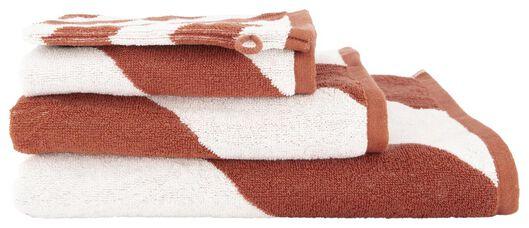 handdoek - zware kwaliteit terra terra - 1000018652 - HEMA