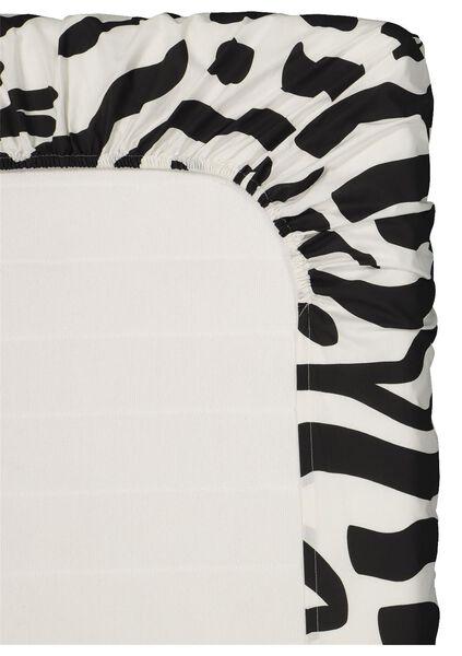 hoeslaken - zacht katoen zwart/wit zwart/wit - 1000019508 - HEMA