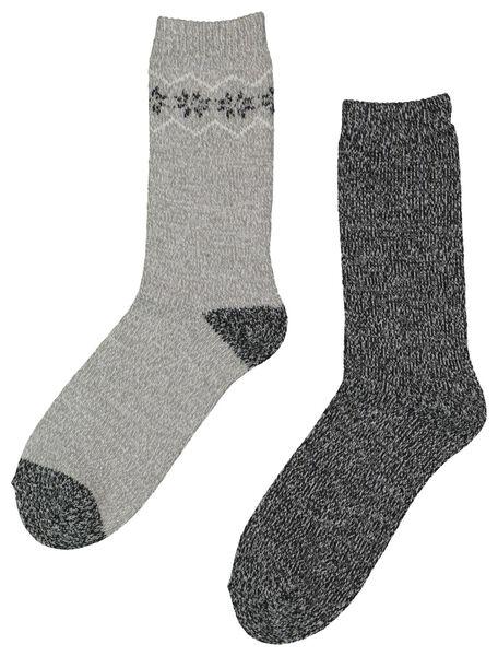 2-pak dames huissokken grijs grijs - 1000016545 - HEMA