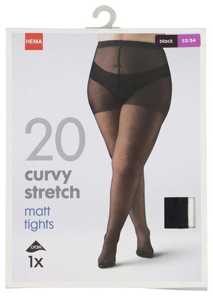panty curvy stretch 20 denier zwart zwart - 1000021485 - HEMA