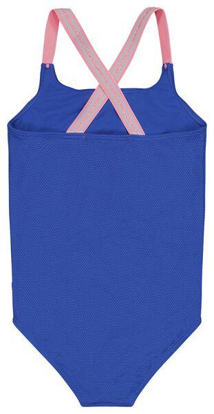 kinder badpak reliëf blauw 122/128 - 22280706 - HEMA