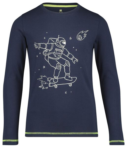 kinderpyjama astronaut blauw - 1000020678 - HEMA