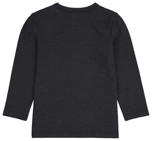 baby t-shirts met bamboe - 2 stuks zwart zwart - 1000024469 - HEMA