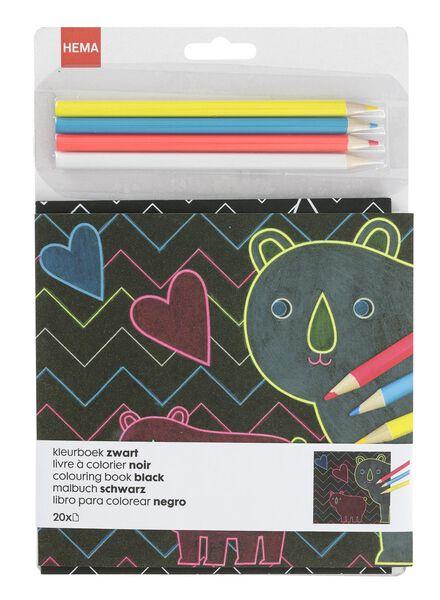 kleurboek zwart - 15990183 - HEMA