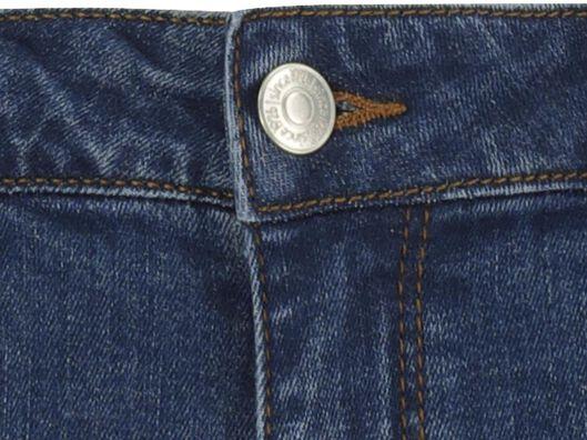 damesshort denim middenblauw middenblauw - 1000019614 - HEMA