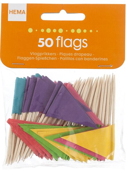 50-pak vlaggenprikkers - 14200053 - HEMA