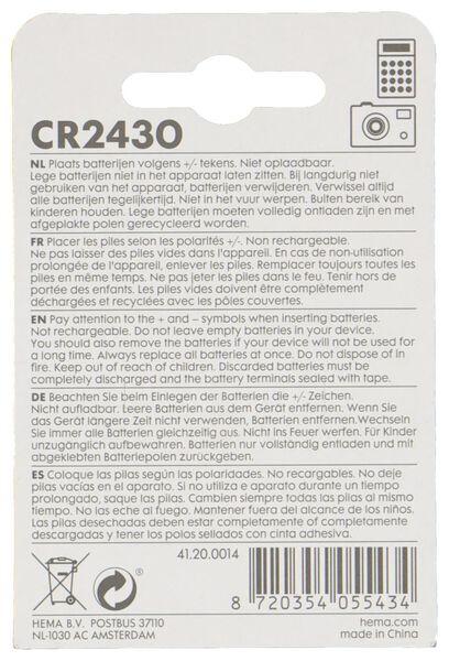 CR2430 lithium batterijen - 2 stuks - 41200014 - HEMA