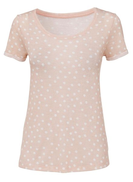 dames t-shirt lichtroze - 1000008298 - HEMA