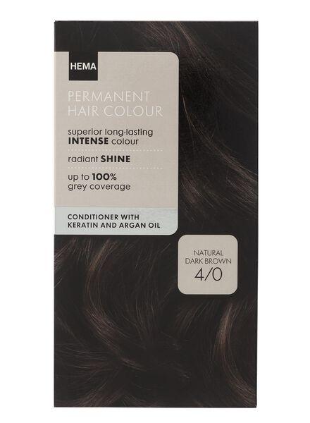 haarkleuring natuurlijk donker bruin 4/0 - 11050018 - HEMA