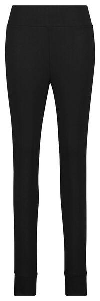 dames legging viscose fleece zwart XL - 23422124 - HEMA