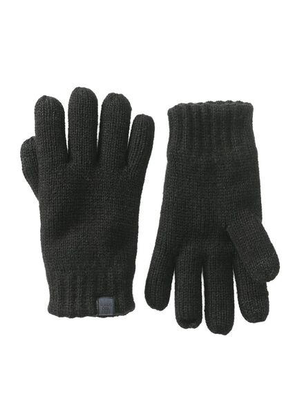 kinderhandschoenen zwart zwart - 1000009621 - HEMA