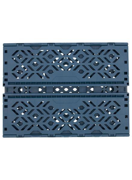 klapkrat gerecycled - 39 x 29 x 15 cm - blauw donkerblauw 39 x 29 x 15 - 39892907 - HEMA