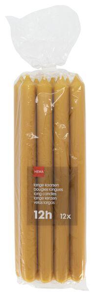 huishoudkaarsen - 29 cm - 12 stuks okergeel okergeel - 1000017587 - HEMA