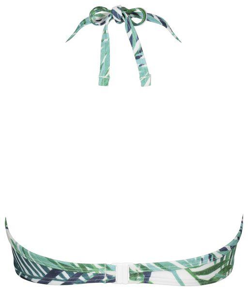 dames bikinitop halter push up cup A-D recycled - bladeren blauw 80D - 22350478 - HEMA