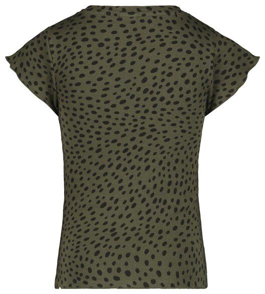 kinder t-shirt rib donkergroen donkergroen - 1000022385 - HEMA