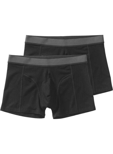 2-pak herenboxers zwart zwart - 1000009090 - HEMA