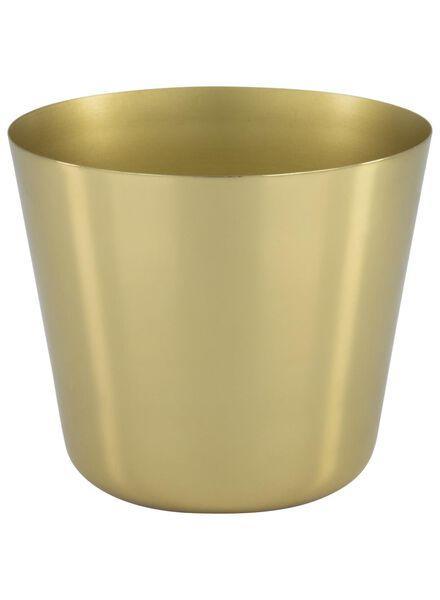 bloempot Ø 14.3 cm - metaal - goud - 13392112 - HEMA