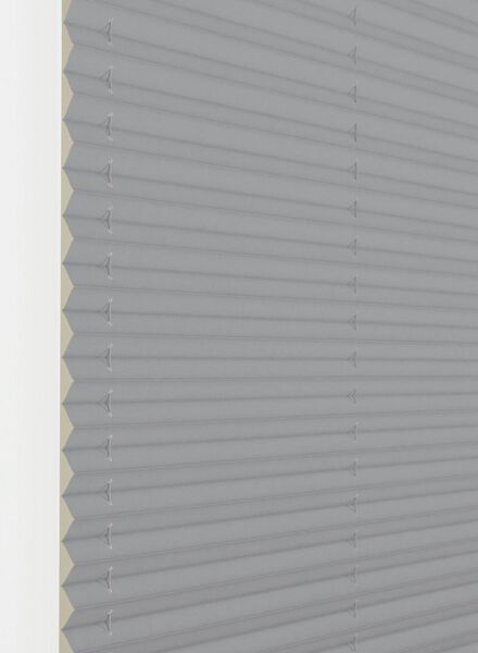plisségordijn uni lichtdoorlatend 20 mm grijs - 1000016445 - HEMA
