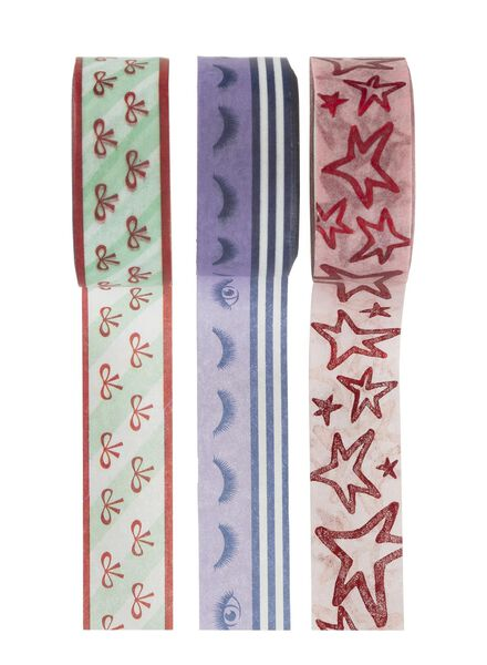3-pak washi tape Beautynezz - 14940185 - HEMA