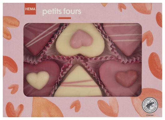 petit fours harten - 6 stuks - 10050403 - HEMA