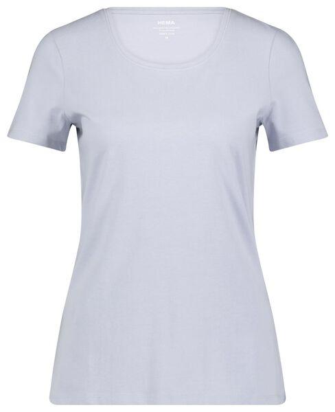 dames t-shirt lichtblauw M - 36324782 - HEMA