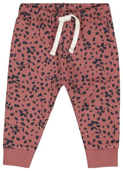 baby sweatbroek bloem roze 86 - 33039147 - HEMA