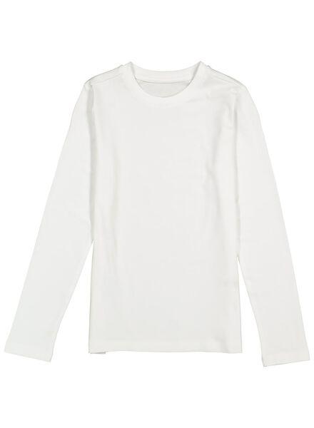 kinder t-shirt met bamboe wit wit - 1000014274 - HEMA