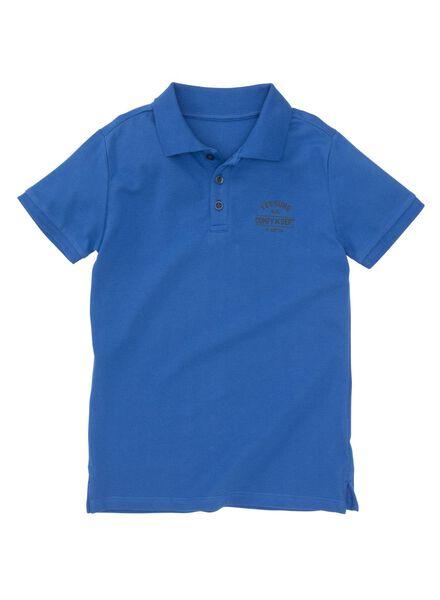 kinderpolo middenblauw middenblauw - 1000008215 - HEMA