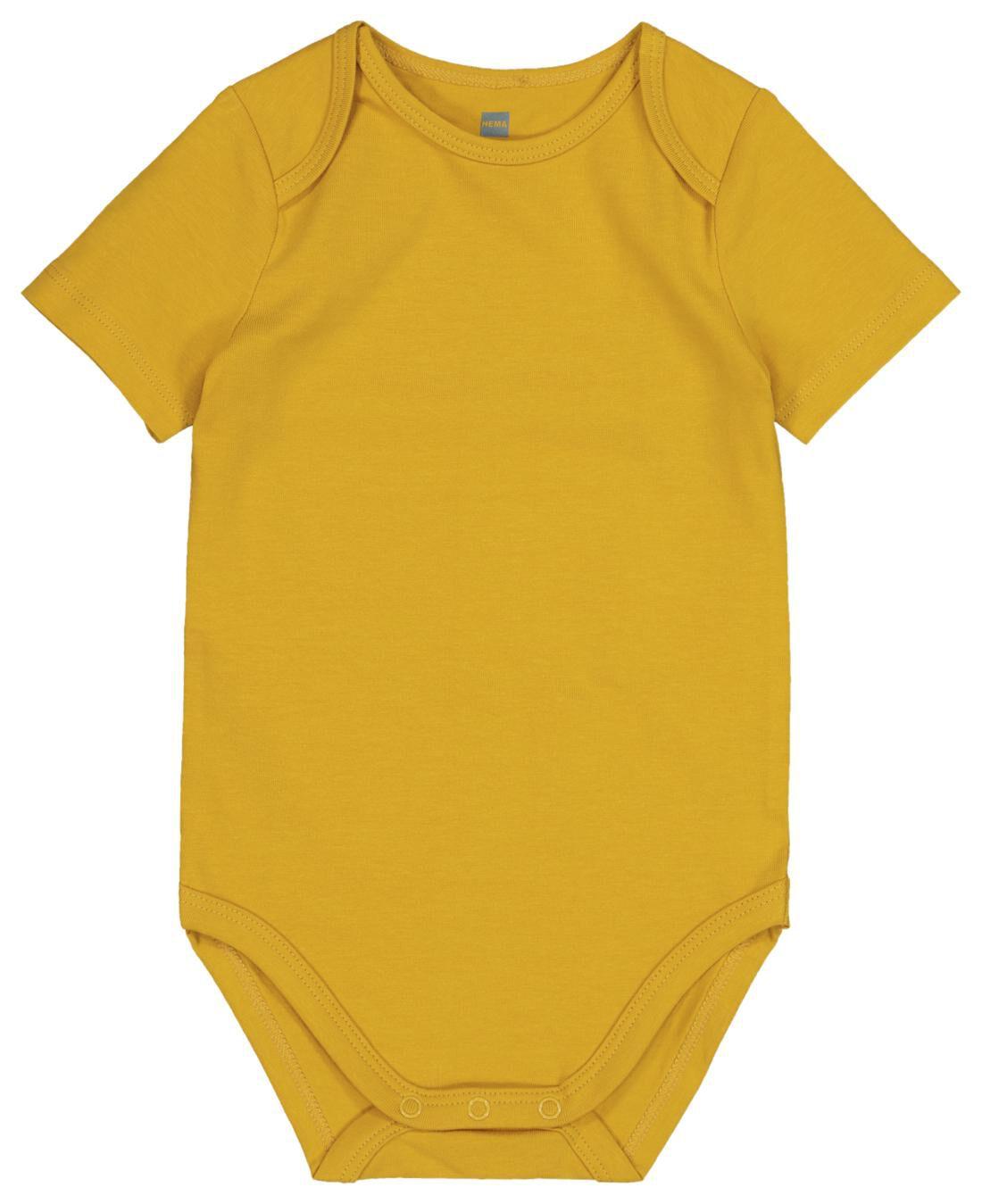 HEMA Romper Biologisch Katoen Stretch Geel (geel)