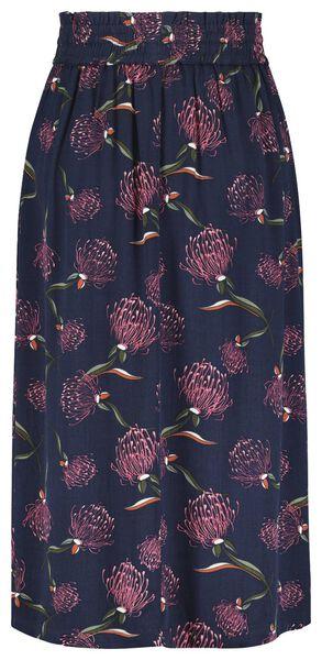 damesrok bloemen blauw - 1000021166 - HEMA
