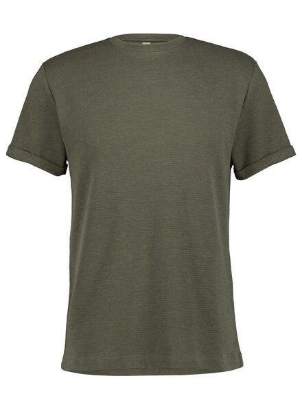heren t-shirt ribbel groen groen - 1000014895 - HEMA