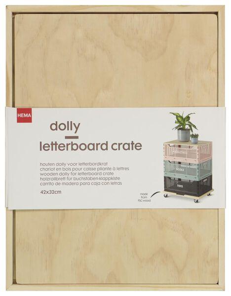 houten dolly voor klapkratjes letterbord 42x32 - 13011012 - HEMA
