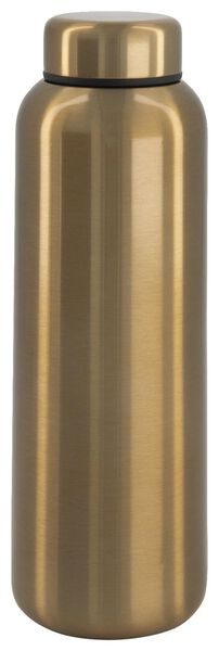 isoleerfles 450ml rvs dubbelwandig goud - 80640003 - HEMA