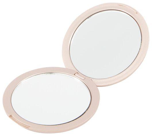 vouwspiegeltje metallic rosé Ø 7.5 cm - 11821050 - HEMA