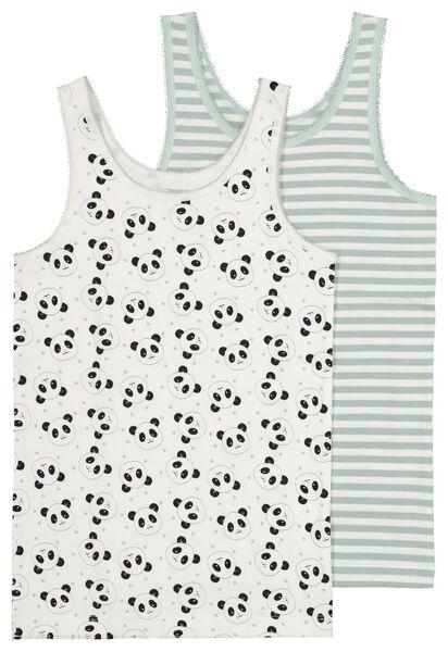 2-pak kinderhemden met bamboe - panda grijs - 1000021050 - HEMA