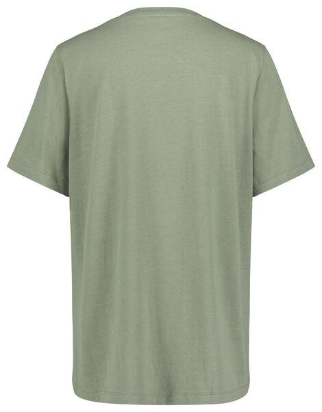 dames t-shirt hello lichtgroen M - 36298082 - HEMA