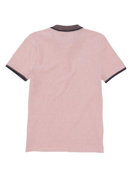 herenpolo roze roze - 1000012964 - HEMA