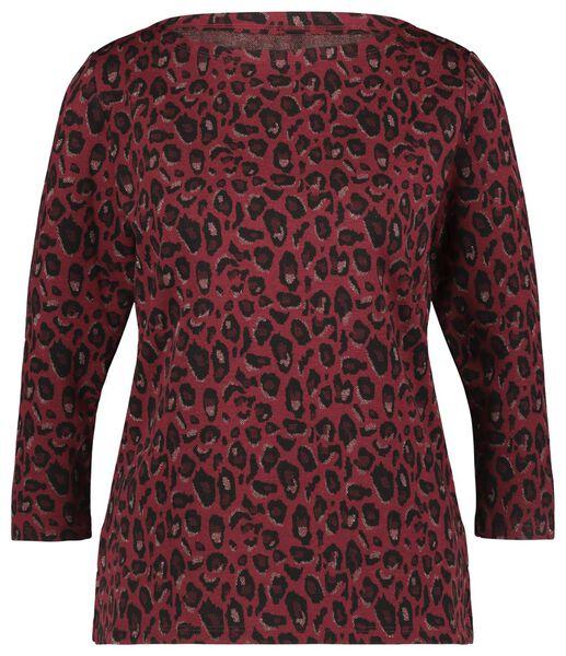 dames t-shirt rood rood - 1000022085 - HEMA