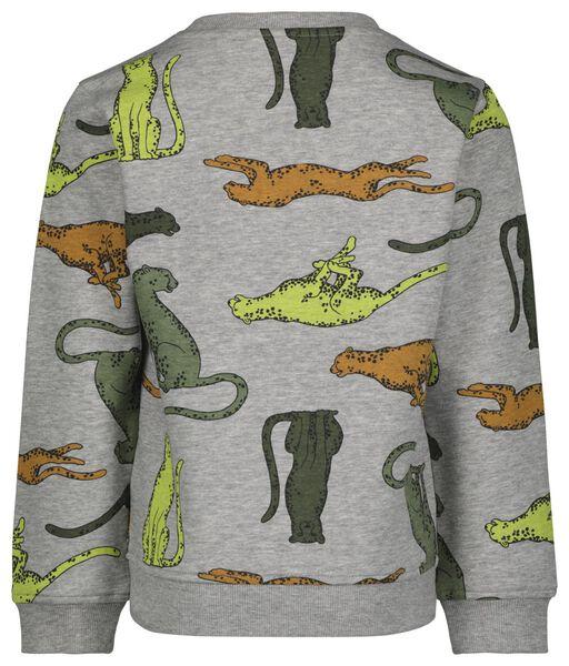 kindersweater cheeta grijsmelange grijsmelange - 1000025122 - HEMA