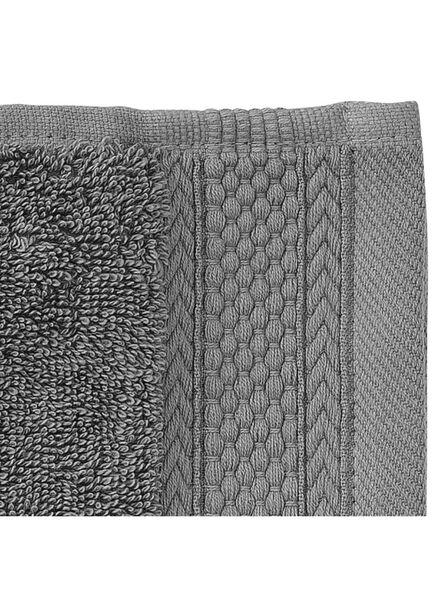 handdoek - 50 x 100 cm - hotel extra zwaar - donkergrijs uni - 5240069 - HEMA