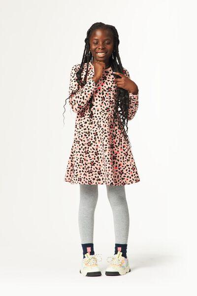 kinderjurk luipaardvlekken roze roze - 1000024707 - HEMA