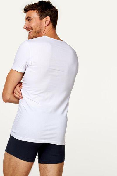 2-pak heren t-shirt naadloos wit XXL - 19184535 - HEMA