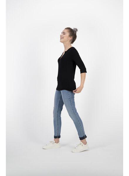 dames t-shirt zwart zwart - 1000011661 - HEMA