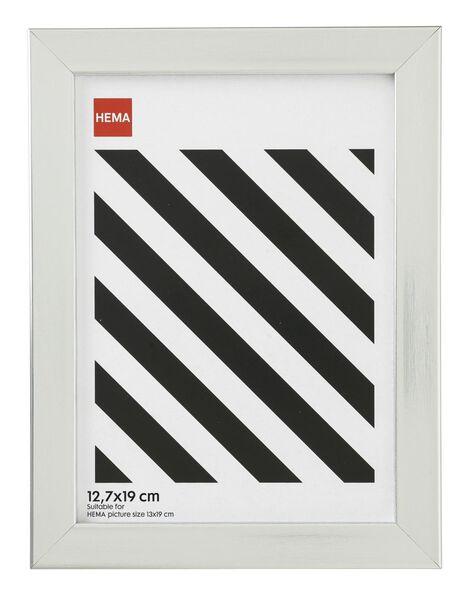 fotolijst - hout - zilver 12.7 x 19 12.7 x 19 aluminium - 13680035 - HEMA